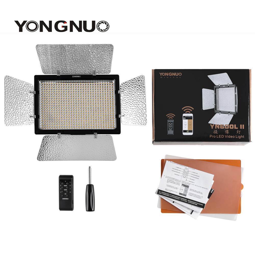 Yongnuo <font><b>YN600L</b></font> <font><b>II</b></font> YN600 <font><b>II</b></font> 3200K-5500K Panel LED Video Light with Falcon Eyes Adapter Set Support Bluetooth Control by Phone App image