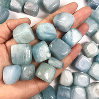 500g natural sea blue crystal degaussing stone box decoration fish tank stone gardening decoration crystal purification
