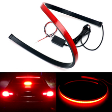 Super Bright Car High Mount Stop Rear Tail Warning Light Flowing flashing Third Brake Universal Turn Signal Strip