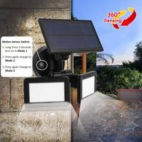 48LED Dual Head Solar Light Waterproof PIR Motion Sensor Solar Powered Light Outdoor Garden Security Wall Lamp Street Lamp