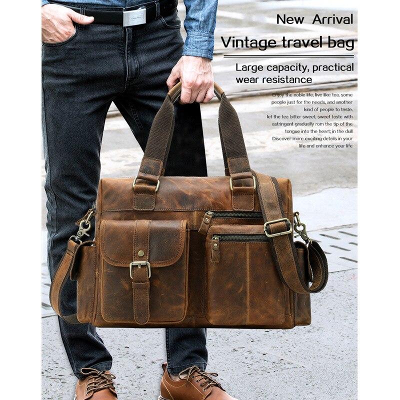 Men Leather Briefcases Handbag Men For Man Portable Shoulder Bag Large Travel Duffel Bags Bolso Hombre Mens Bag Bolsa MasculinaMen Leather Briefcases Handbag Men For Man Portable Shoulder Bag Large Travel Duffel Bags Bolso Hombre Mens Bag Bolsa Masculina