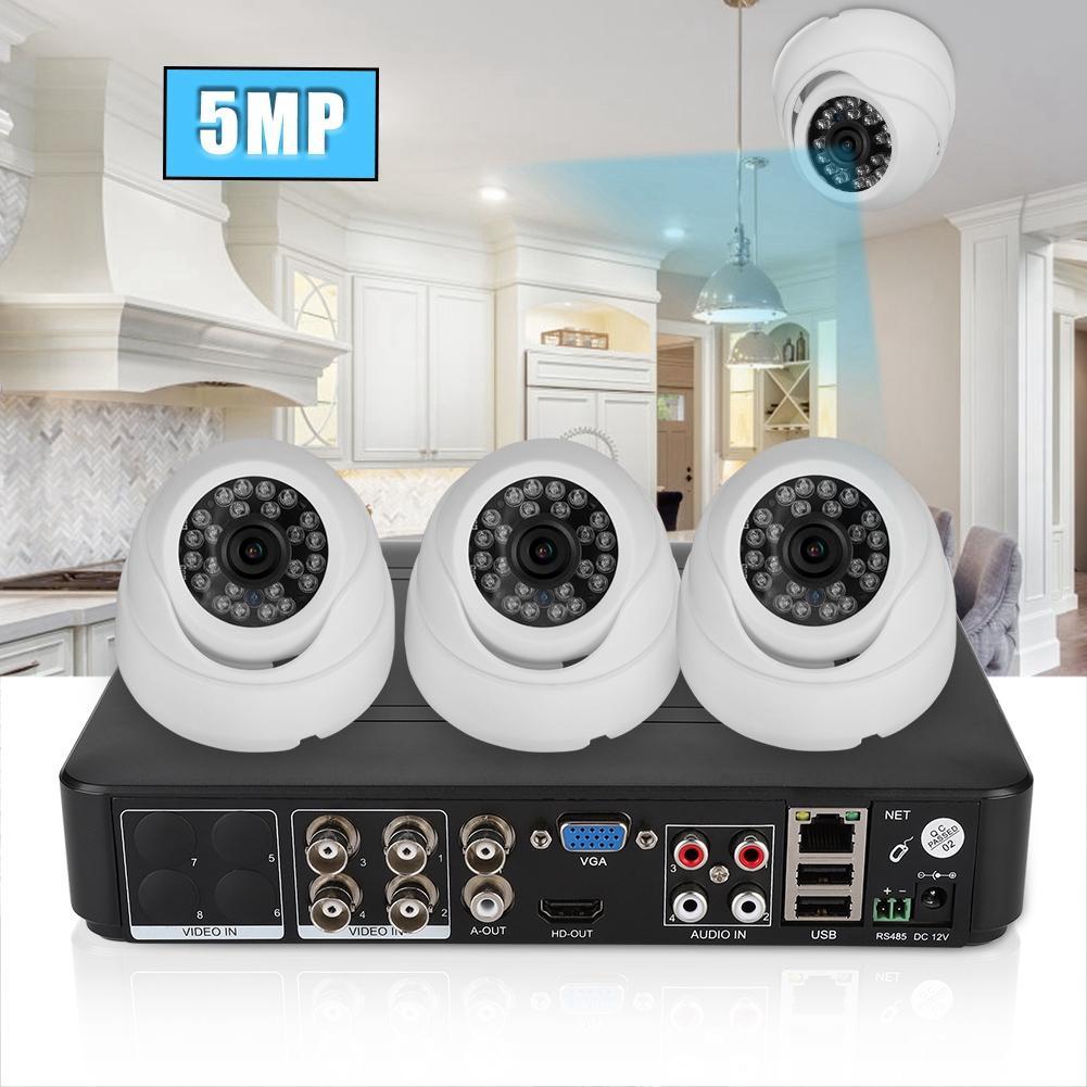 4CH Coaxial AHD Surveillance Vidéo caméra de sécurité Kit HD 500 W Pixels