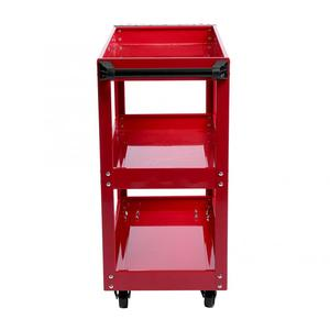 Image 3 - 3 Tier Storage Shelves Tools Cart with 360 Degree Free Rotation Wheels for Workshop Garage Use