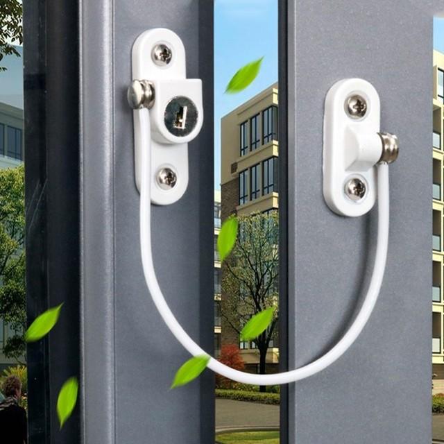 4Pcs/Set Window Locks Children Protection Lock Stainless Steel Window Limiter Baby Safety Infant Security Window Locks