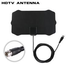 80 קילומטרים 1080 P מקורה דיגיטלי טלוויזיה אנטנת אות מקלט מגבר טלוויזיה רדיוס לגלוש שועל Antena HDTV אנטנות אווירי מיני DVB T/T2