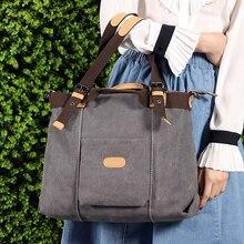 COZMOZ Canvas shoulder bag zipper women's retro crossbody bag