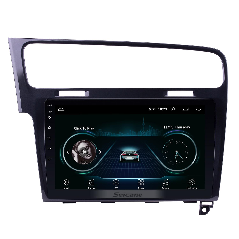 Seicane Android 8.1 10.1 pouces 2Din autoradio GPS Navi stéréo lecteur multimédia pour VW Volkswagen Golf 7 2013 2014 2015 WIFI