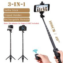 Handheld Selfie Sticks Monopod for GoPro Smartphone SLR Action Sport Camera Tripod ith Remote Shutter for iPhone for Samsung