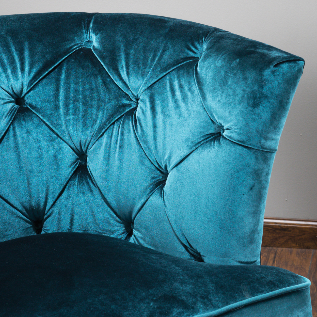 Anabella Teal Blue Velvet Tufted Sofa Chair In Living Room Sofas From  Furniture On Aliexpress.com | Alibaba Group