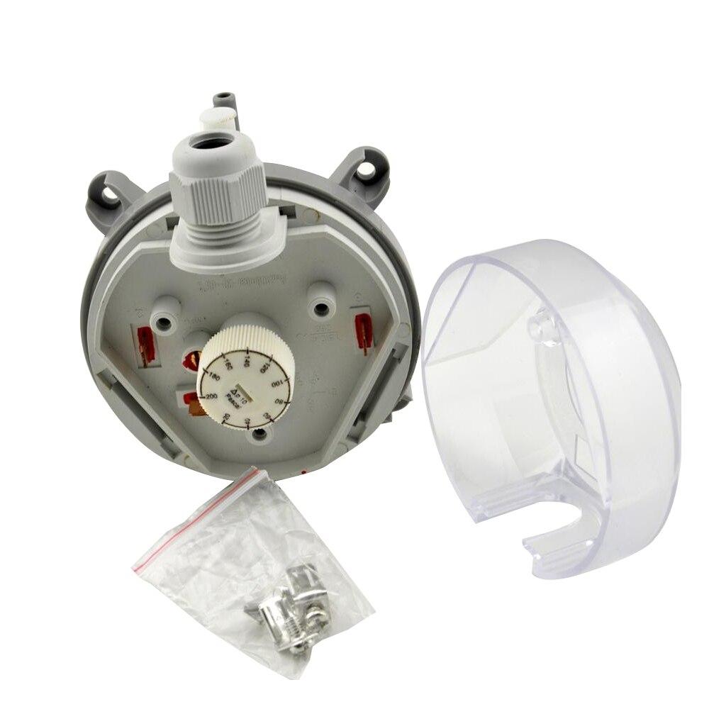 Interruptor de pressão ajustável 20-200 pa/30-300 pa/50-500 pa do interruptor de pressão diferencial do ar micro-interruptor de pressão diferencial