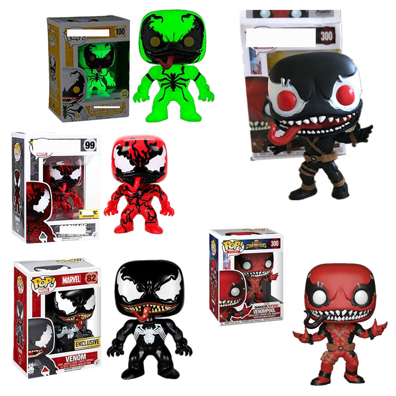 1pcs Funko Pop Marvel VENOM Theme Action Figure #300 Venompool #82 #99 #100 Collectible Model Toy For Movie Fans Gift With Box