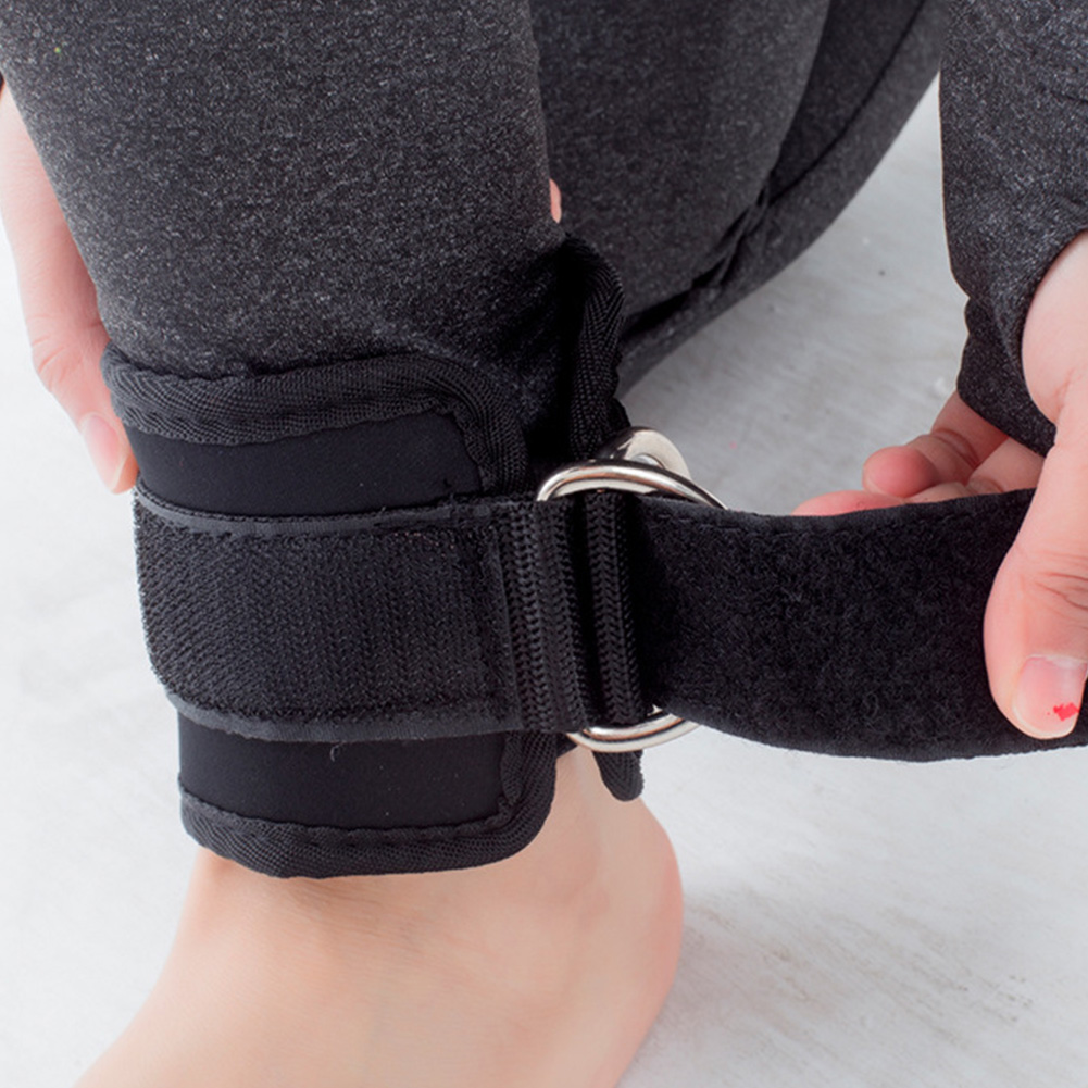 Ankle Cuff Twin D-Ring Strap Multi Gym Cable Attachment Leg Thigh Pulley Lifting