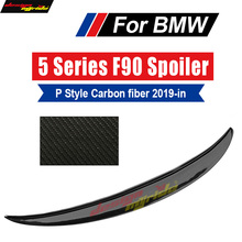 F90 Rear Spoiler wing Tail M5 Trunk Wing For BMW P Style Carbon Fiber 2019-in