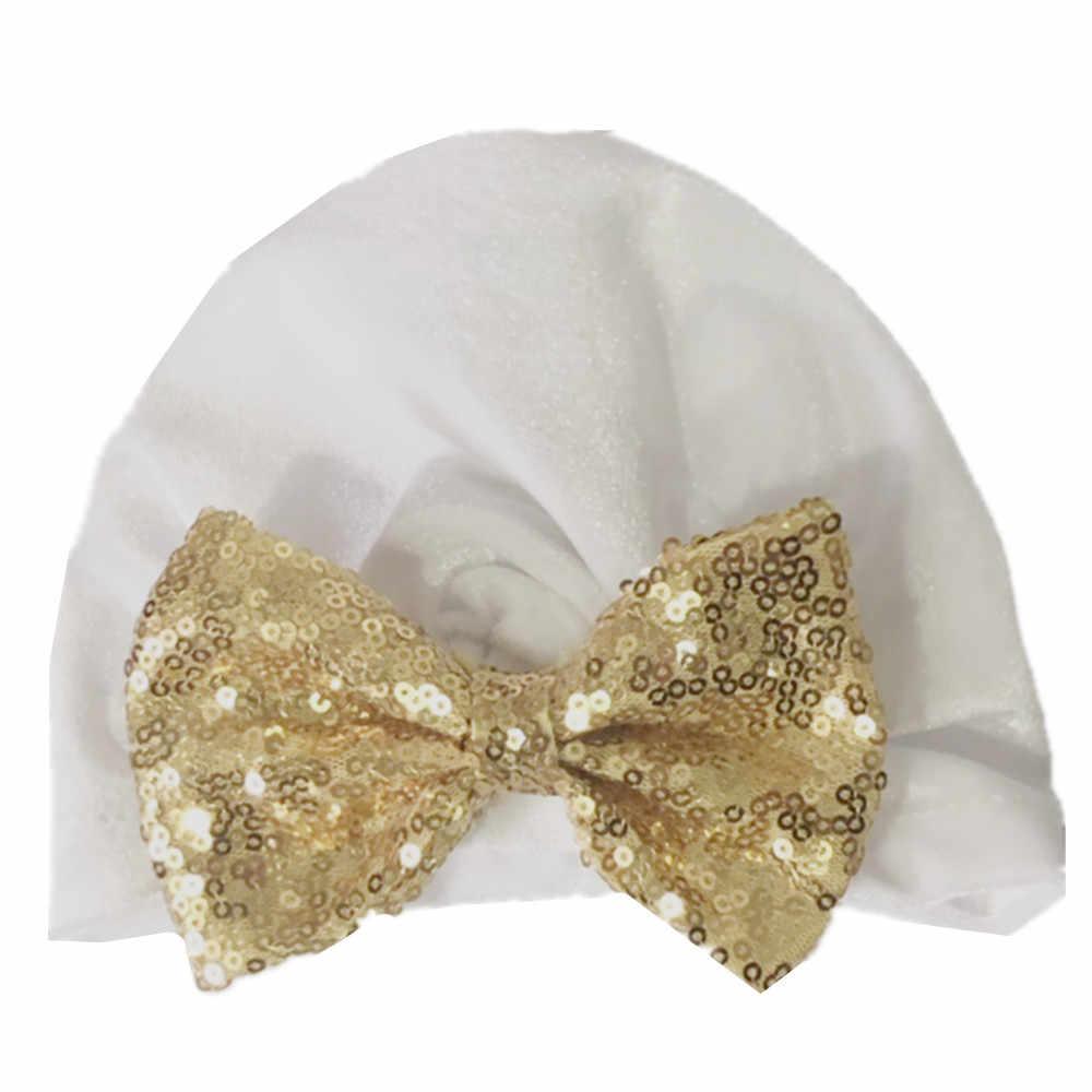 แฟชั่นทารกแรกเกิดเด็กวัยหัดเดินเด็กทารกเด็กทารกเด็ก Turban กำมะหยี่หมวกหมวกหมวกหมวกเด็กเลื่อมหมวกผ้าฝ้าย Beanie หมวกฤดูหนาว