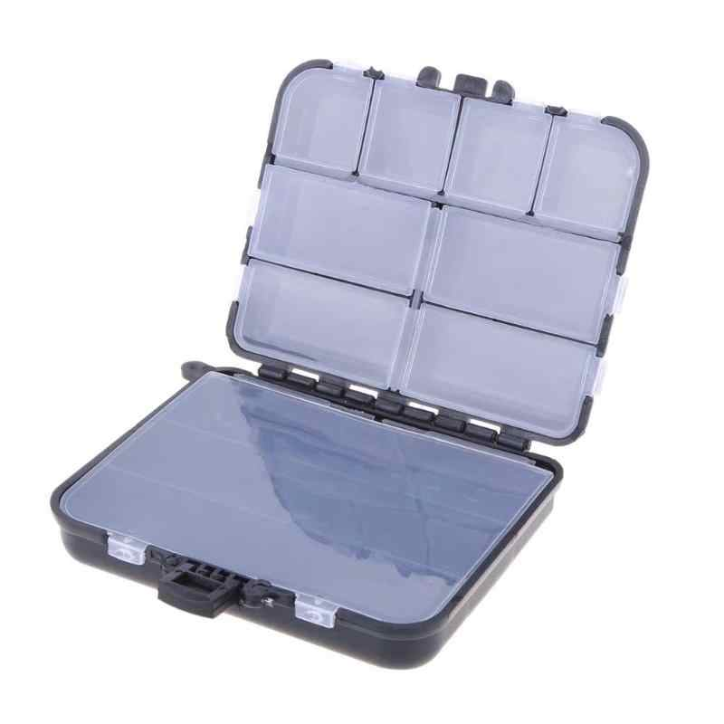 "1PC Black Plastic Fishing Lure Bait Tackle Waterproof Storage Box Case With 26 Compartments 11.5*9*3.5cm/4.53""*3.54""*1.38"""