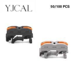 Wago Tipo 50/100 PCS SPL-1 Tipo di Guida Terminale di Collegamento Rapido Connettore di Tipo Presse Invece Di UK2.5B Combinazione Morsettiera
