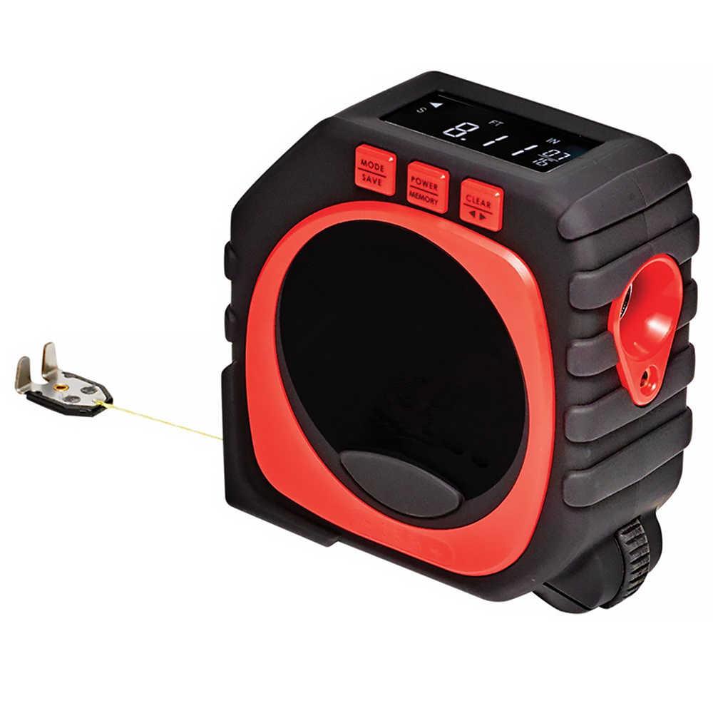 3-в-1 Высокоточный лазер цифровая рулетка измерительный инструмент большой с задней подсветкой светодиодный цифровой Дисплей лазерный нивелир лента
