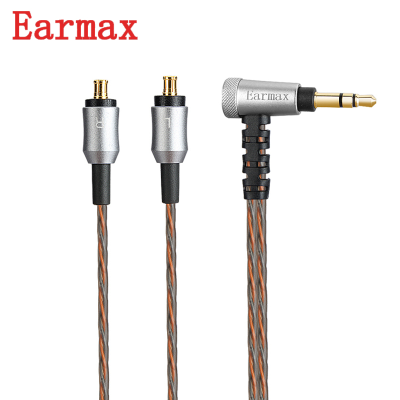 Earmax 213A Earphone Cable 3.5mm Jack OCC Silver Plating Wire HIFI Audio Cable Upgraded For ATH CKR100is/CKR90/CKS1100is