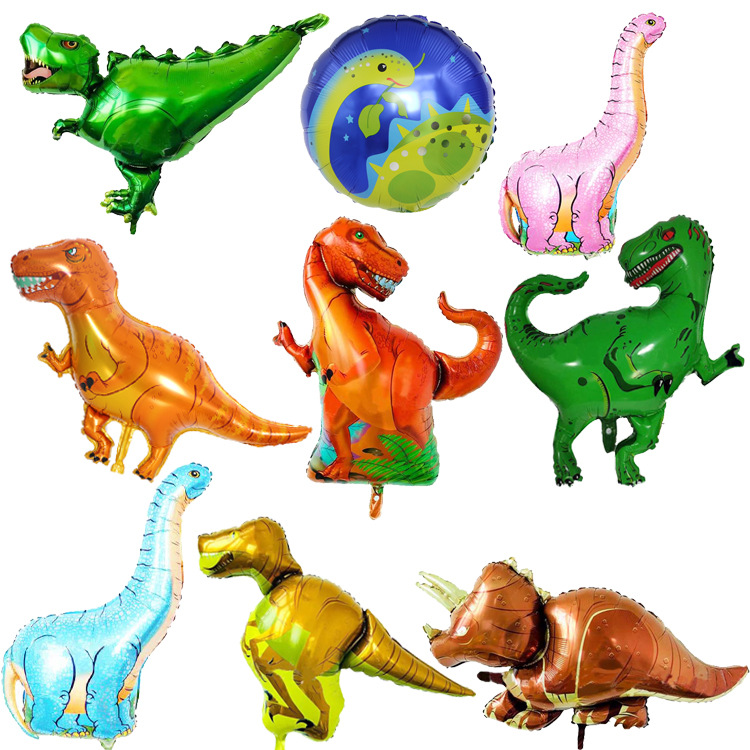 1pc Giant Dinosaur Foil Balloon Boys Animal Balloons Children's Dinosaur Party Birthday Decorations Helium Balloons Kids Toys