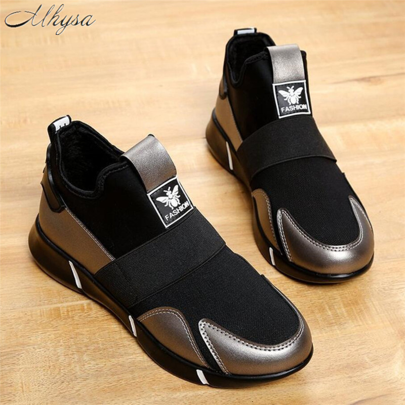 Mhysa 2019 Spring And Autumn New Fashion Wild Ladies Flat Sneakers Comfortable Breathable Slip-on Women's Vulcanized Shoes S1281