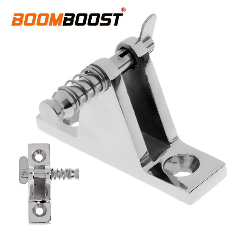 Good 1 Pcs Silver 90 Degree Removable Bolt/pin Hardware With Quick Release Stainless Steel Fit For Boat Marine Top Deck Hinge Atv,rv,boat & Other Vehicle