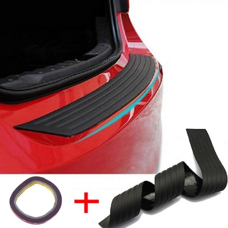 104cm Black Rubber Car Trunk Rear Bumper Protector Sill Plate Guard Scratch Pad