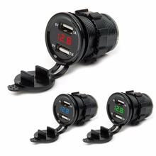 SOONHUA 12V/24 Dual USB Port Car Charger Lighter Socket Plug