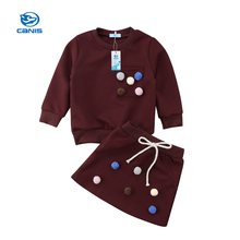 цена на CANIS 2019 New  Baby  Clothing Sets Kids Girls  Sport Suit fleece jacket Spring Autumn Clothes Children Casual Set (1-5T)