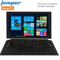 Джемпер Ezpad 7 s 2 в 1 планшеты PC 10,8 дюймов Intel Cherry Trail Z8350 окна 10 4 ядра Гб 64 Wi Fi магнитная всасывания клавиатура