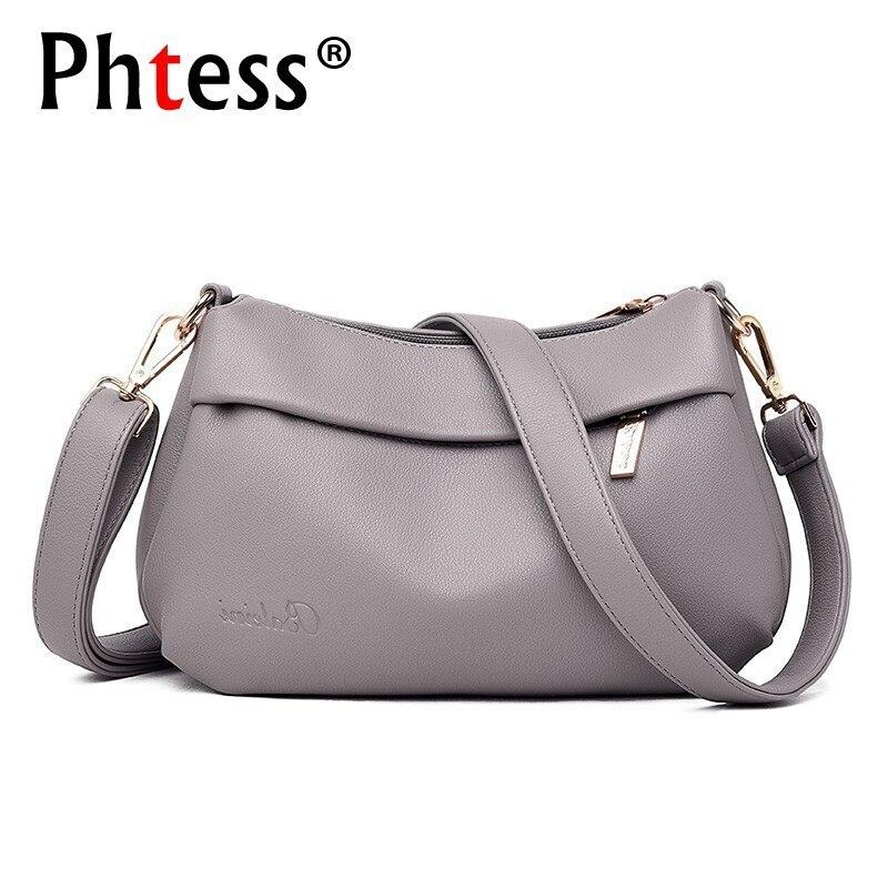 Women Leather Handbags High Quality Bolsos Mujer Female Messenger Bags Vintage Leather Shoulder Crossbody Bag For Women Bolsas
