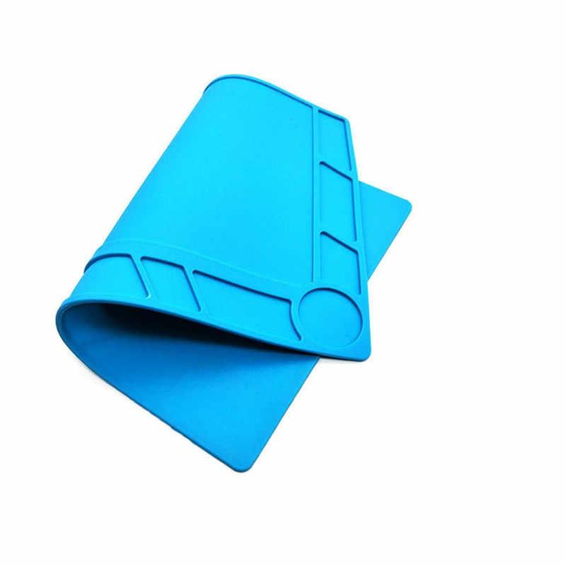 Силиконовые ремонтный коврик теплоизолирующая подкладка высокого Температура верстак Сварка анти-статическая поверхность телефона PC Инструменты для ремонта компьютеров EasyTools