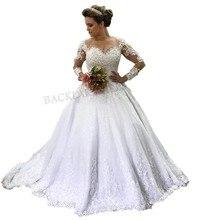 Luxury Wedding Dresses Long Sleeves Bride Dress Bridal Gown
