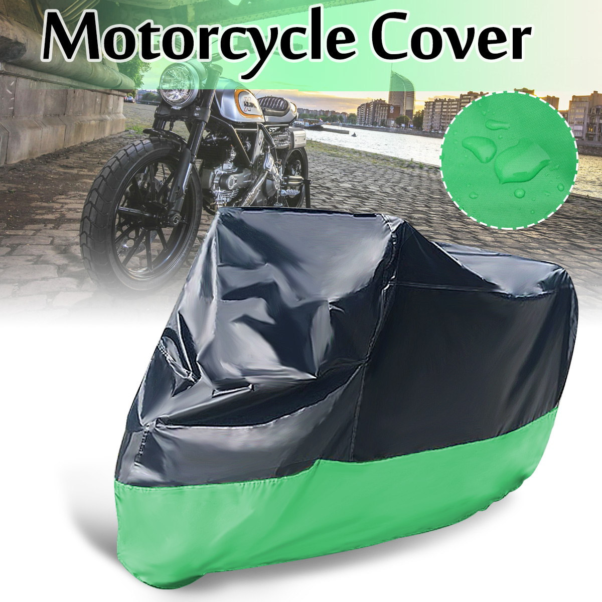 Mofaner Universal Waterproof Motorcycle Cover Sheet Motorbike Moped Scooter Case Cover M XL XXL Mofaner Universal Waterproof Motorcycle Cover Sheet Motorbike Moped Scooter Case Cover M XL XXL