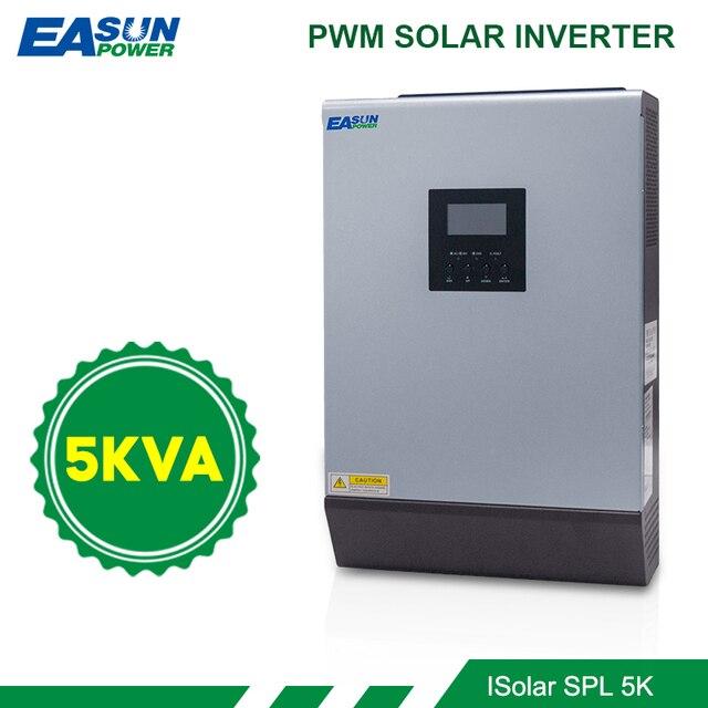 EASUN POWER  Hybrid Inverter 5KVA 48V 220v Pure Sine Wa Solar Inverter Built-in 50A PWM Solar Charge Controller Battery Charger