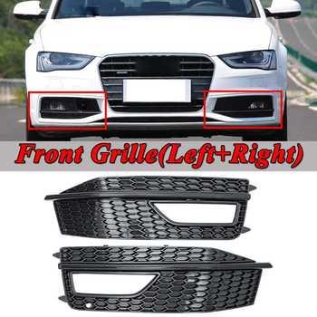 คู่กันชนหน้ารถ Facelift หมอกด้านหน้ากระจังหน้าย่างสำหรับ Audi A4 B8 S - สาย S4 2013-2015 Glossy Black