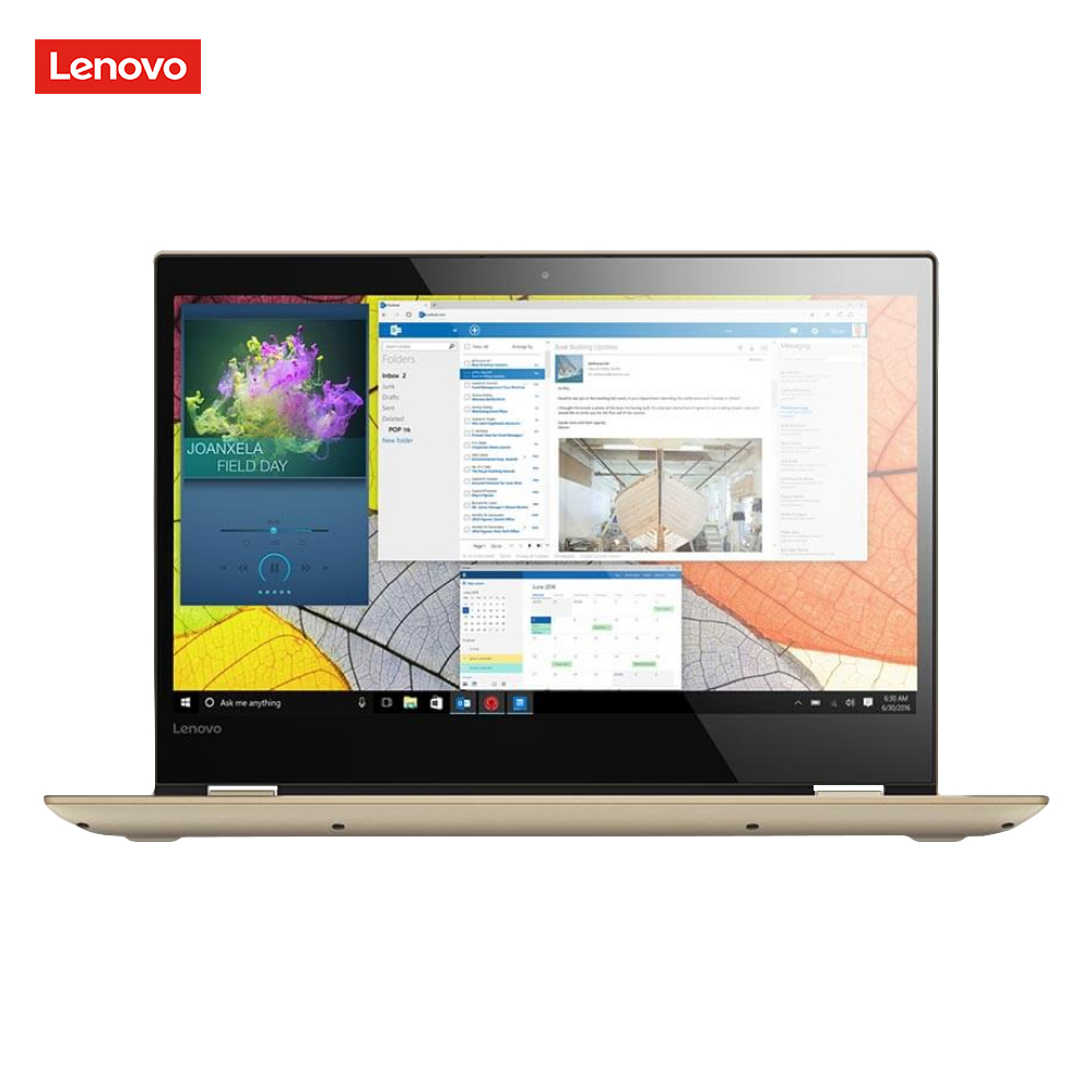 Ordinateur portable Lenovo IdeaPad 520 S, 7th Intel Core i3-7130U, 2.7 GHz, 14 pouces, 1920x1080 pixels, 4 GB, 128 GB couleur or