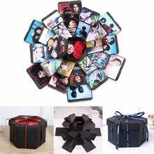 DIY сюрприз любовь взрыв коробка подарок взрыв для юбилея скрапбук DIY Фотоальбом День Святого Валентина свадьба подарок на день рождения