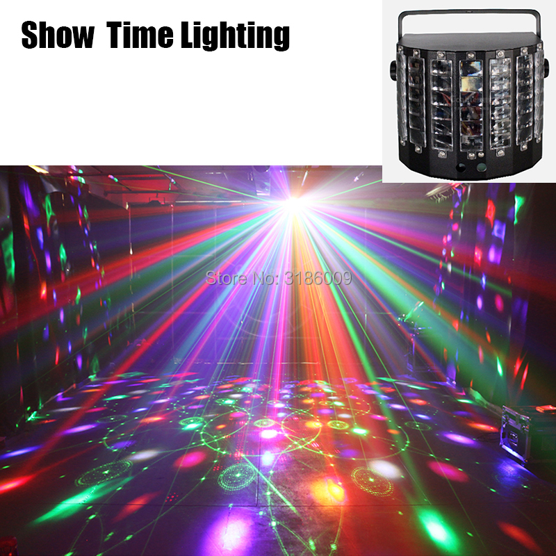 SHOW TIME Remote Control LED Butteryfly With Laser Flower Soward Effect Light Professional For Home Entertain Disco Party Hol
