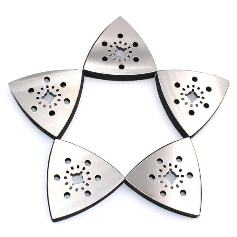 1pc 80mm Triangular Sanding Pad Oscillating Multi Tools Stainless Steel Rotary Tools For Big Opening Power Rotary Tool Dropship