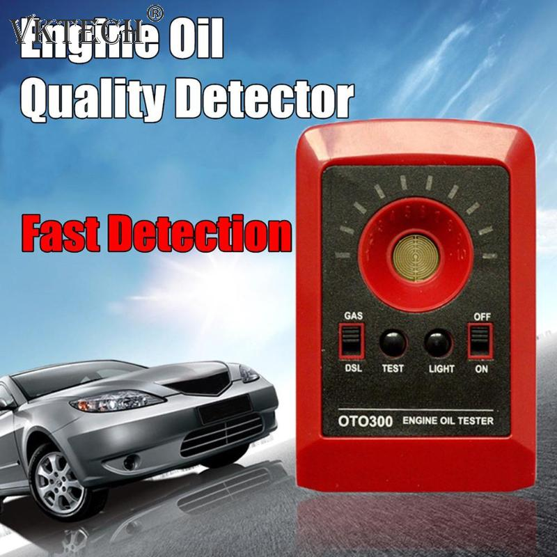 Car Oil Tester LED Digital Automobile Car Oil Quality Tester Motor Engine Oil Tester Detector Gas Diesel Analyzer