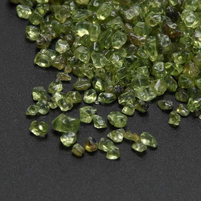 100g naturalne Peridot Olivine kryształ kwarcowy kamień żetony zdrowia szczęście kamienie lecznicze i minerałów do wystroju domu