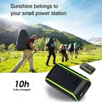 10000mah New Portable Solar Power Hand Crank Dynamo Cell Phone Charger + LED Flashlight Hand Crank function for xiaomi/iphone 7
