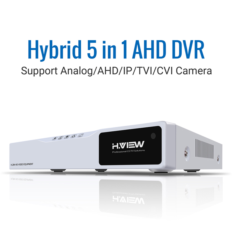 Image 2 - H.VIEW AHD DVR 8ch 4ch Recorder Surveillance 1TB HDD AHD DVR 8ch 4ch Recorder Surveillance for Analog TVI CVI IP Camera-in Surveillance Video Recorder from Security & Protection