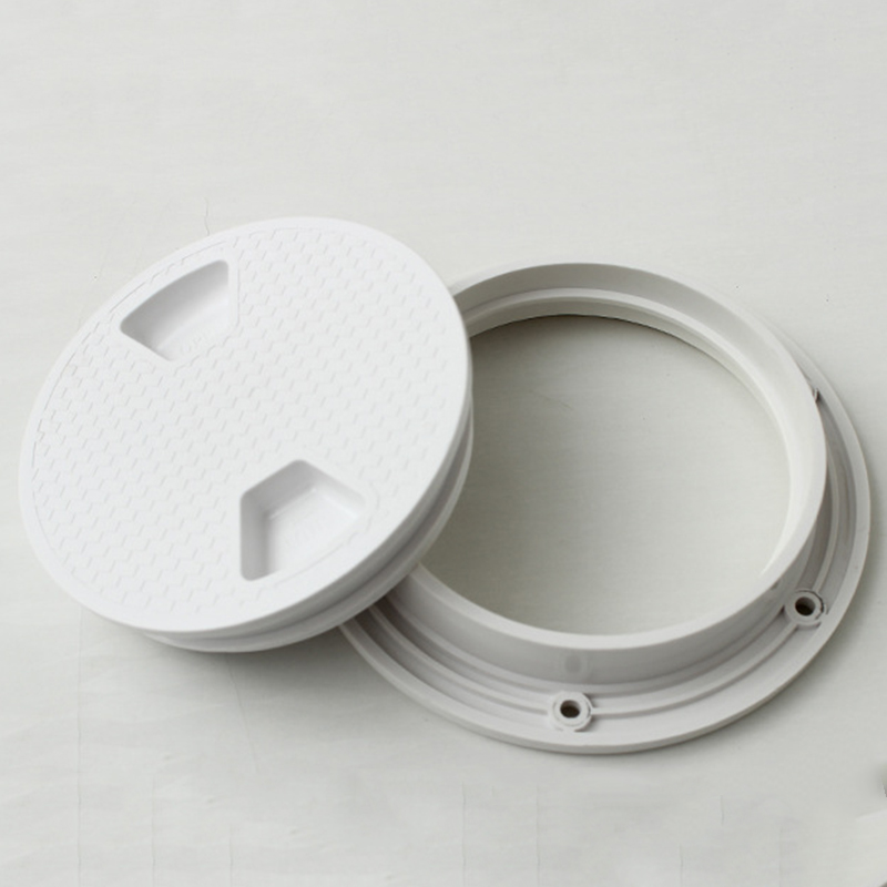 Marine Screw Out Deck Plate Inspection Hatch Plastic Access Boat 4/'/'
