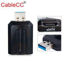 CableCC USB 3.0 to eSATA External SATA 3G BPS Convertor Adapter for 2.5 3.5 Hard Disk premium external esata to sata cable 102cm length