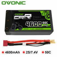 Ovonic 2S Shorty Lipo 7.4V 50C 2300mAh Hardcase Lipo batterie avec 4mm Bullet Deans connecteur Ultra Plug pour véhicule RC 1/10 échelle