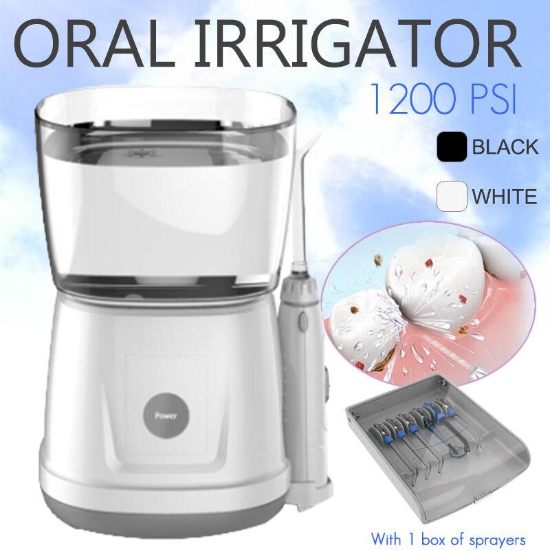 12 W 1000 ML Portable Eau Flosser Dentaire Oral Irrigateur Dentaire Spa Unité Professionnel Floss Oral Irrigator Avec 6 Conseils réservoir d'eau