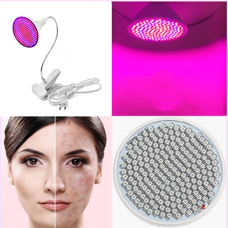New Led red blue light beauty lamp Practical make up freckle Skin care whitening acne remover women beauty tools makeup EU Plug