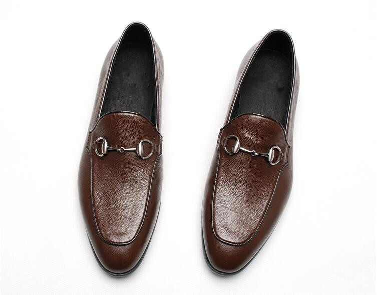 Brown White Black Mens Fashion Slip On Mocassion Real Leather Casual Tennis Shoes Flats Dress Wedding Party Oxfords SapatosBrown White Black Mens Fashion Slip On Mocassion Real Leather Casual Tennis Shoes Flats Dress Wedding Party Oxfords Sapatos