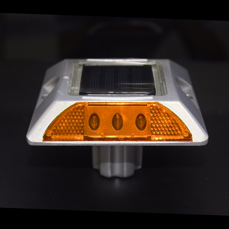 Square Aluminum LED Flashing Blinking On And Off Cat Rye Reflector Solar Road Stud With Anchor
